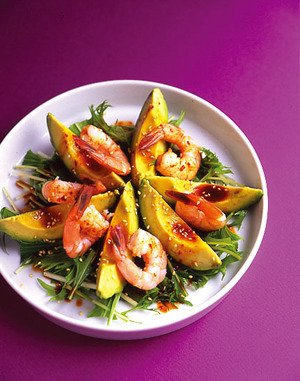 えびとアボカドのピリ辛サラダ