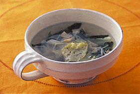 レタスと帆立てのスープ