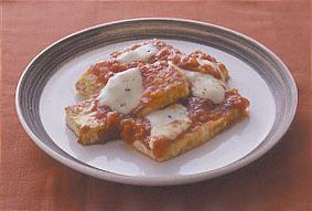 豆腐のピザ風