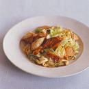 鮭のピリ辛キムチ炒め