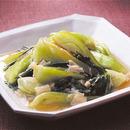 青梗菜と帆立ての塩炒め