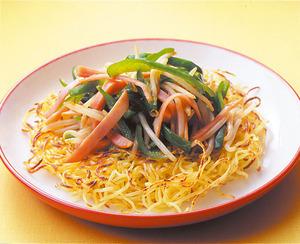 炒め野菜のせカリカリ焼きそば