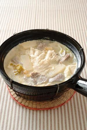 塩豚の豆乳チゲ