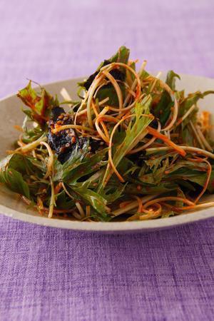 水菜のピリ辛サラダ