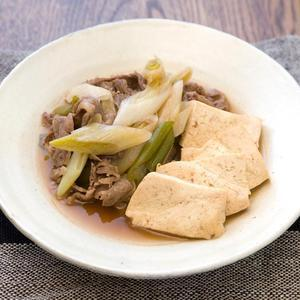 ねぎと豆腐の牛すき煮