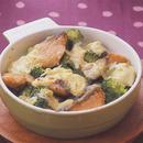 鮭とブロッコリーのみそマヨ焼き