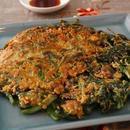 青菜とあさりのチヂミ