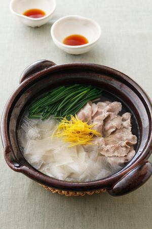 大根と豚肉のシンプル鍋