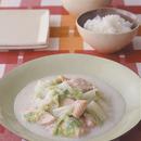 白菜と鮭の中華クリーム煮