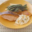 鮭のステーキ タルタルソース添え