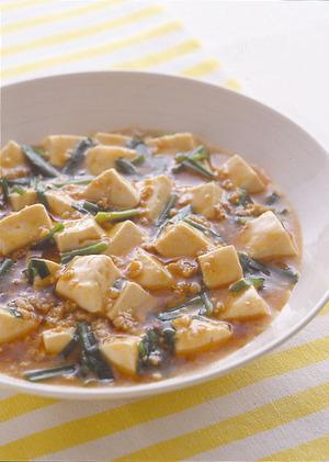 豆腐とにらの辛み炒め