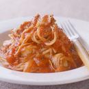 帆立てのトマトスパゲティ
