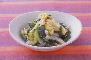 白菜とにらのナムル