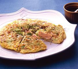 鮭とキャベツの卵焼き