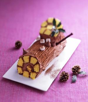 チョコクリームのブッシュドノエル