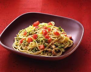 ブロッコリーとツナのスパゲティ