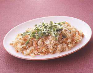 鶏肉と桜えびの炒飯