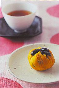 黒豆とかぼちゃの茶巾しぼり