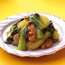 青梗菜と鶏肉の中華炒め
