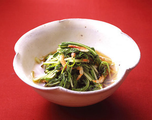 水菜と桜えびのさっと煮