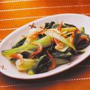 青梗菜と桜えびの塩炒め