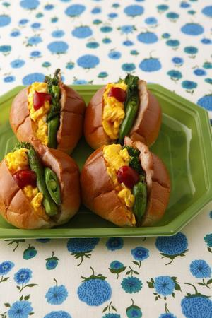春野菜のベーコンエッグサンド