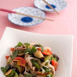 牛肉となすのタイ風サラダ