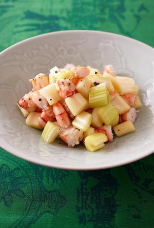 えびとセロリの中華サラダ