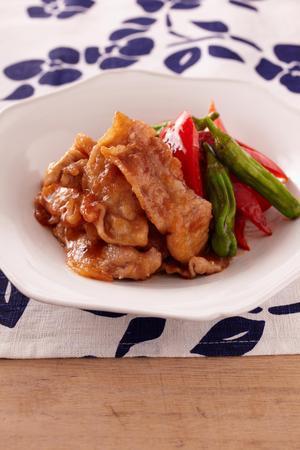 豚肉と焼き野菜の甘酢漬け