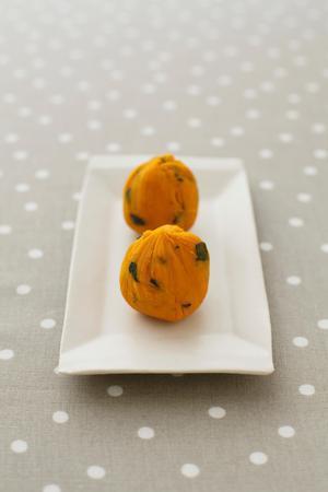 かぼちゃのミルク茶巾しぼり