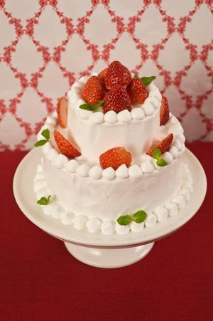 いちごの2段ショートケーキ