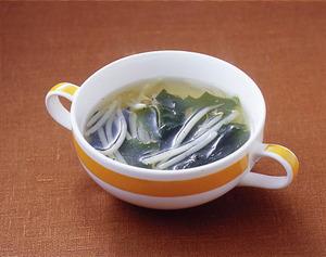 わかめともやしのスープ