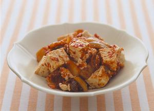 豆腐のキムチあえ