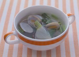 あさりとかぶのスープ
