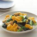 小松菜とささ身の卵炒め