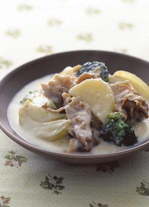 豚肉とブロッコリーのクリーム煮