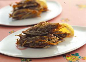 ひき肉と根菜の寄せ揚げ