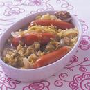 キャベツとソーセージのスープ煮