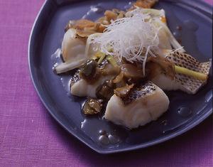 白身魚のねぎザー菜のせ