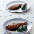 鮭の黒酢照り焼き