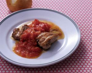 チキンソテー ガーリックトマトソース