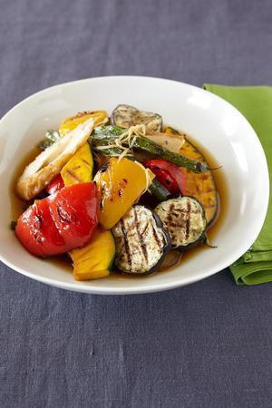 夏野菜とちくわの焼きびたし
