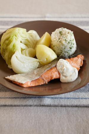 鍋ひとつで! 鮭&ミルクライス