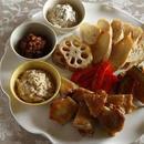 チキンと野菜のグリル 3種のディップ