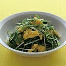 水菜といり卵のサラダ