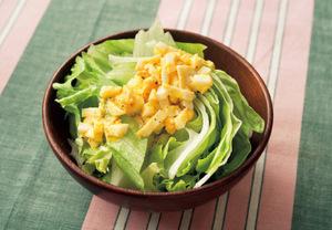 レタスの卵ドレッシングサラダ
