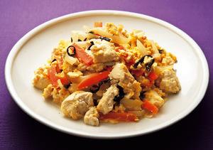 炒め豆腐の卵とじ