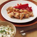 蒸し鶏のピリ辛ソース&ねぎご飯