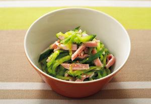 ハムときゅうりのサラダ