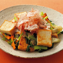 厚揚げと小松菜のチャンプルー